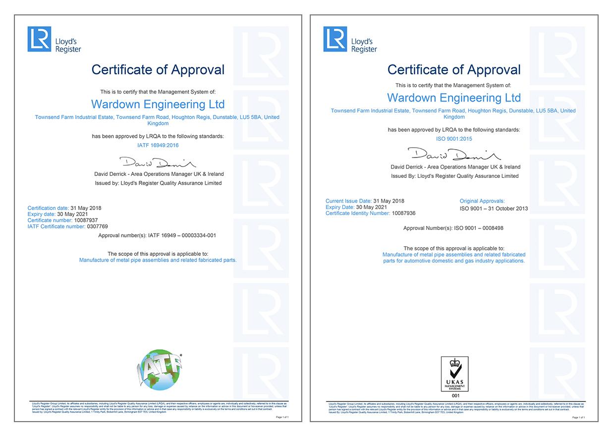 ISO/TS 16949 2009 & BS EN ISO 9001